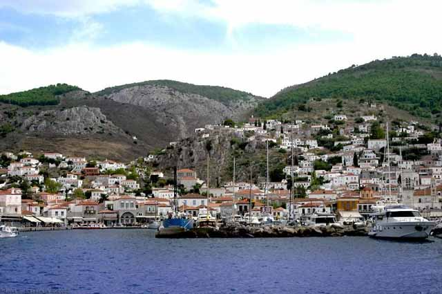 Hydra view from the sea -